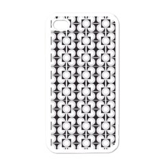 Pattern Background Texture Black Apple Iphone 4 Case (white) by BangZart