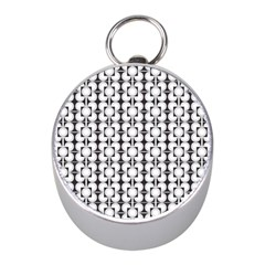 Pattern Background Texture Black Mini Silver Compasses by BangZart