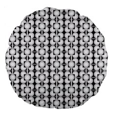 Pattern Background Texture Black Large 18  Premium Flano Round Cushions by BangZart