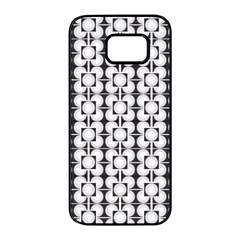 Pattern Background Texture Black Samsung Galaxy S7 Edge Black Seamless Case