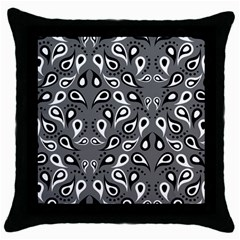 Paisley Pattern Paisley Pattern Throw Pillow Case (black)