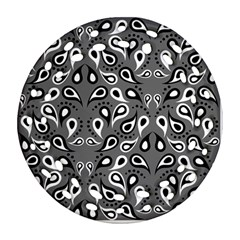 Paisley Pattern Paisley Pattern Round Filigree Ornament (two Sides)