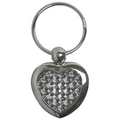 Metal Circle Background Ring Key Chains (heart)