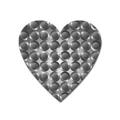 Metal Circle Background Ring Heart Magnet by BangZart