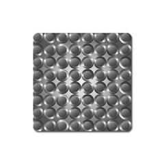 Metal Circle Background Ring Square Magnet