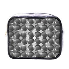 Metal Circle Background Ring Mini Toiletries Bags