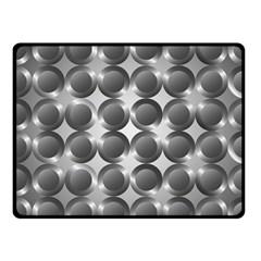 Metal Circle Background Ring Fleece Blanket (small)