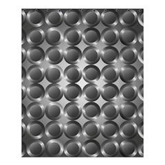 Metal Circle Background Ring Shower Curtain 60  X 72  (medium)  by BangZart