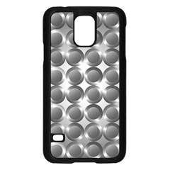 Metal Circle Background Ring Samsung Galaxy S5 Case (black)