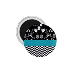 Flowers Turquoise Pattern Floral 1 75  Magnets