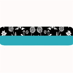 Flowers Turquoise Pattern Floral Large Bar Mats by BangZart