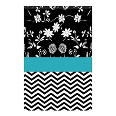 Flowers Turquoise Pattern Floral Shower Curtain 48  X 72  (small)  by BangZart