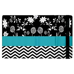Flowers Turquoise Pattern Floral Apple Ipad 2 Flip Case by BangZart