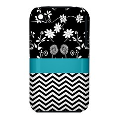 Flowers Turquoise Pattern Floral Iphone 3s/3gs by BangZart