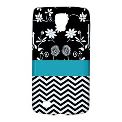 Flowers Turquoise Pattern Floral Galaxy S4 Active by BangZart