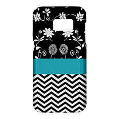 Flowers Turquoise Pattern Floral Samsung Galaxy S7 Hardshell Case  by BangZart