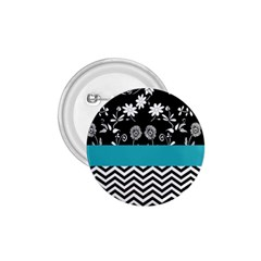Flowers Turquoise Pattern Floral 1 75  Buttons by BangZart