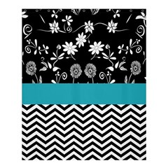Flowers Turquoise Pattern Floral Shower Curtain 60  X 72  (medium)  by BangZart