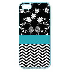 Flowers Turquoise Pattern Floral Apple Seamless Iphone 5 Case (color)