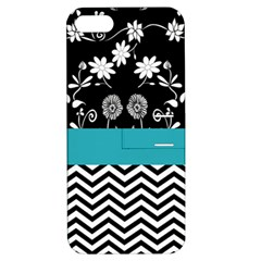 Flowers Turquoise Pattern Floral Apple Iphone 5 Hardshell Case With Stand by BangZart