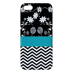 Flowers Turquoise Pattern Floral Apple Iphone 5 Premium Hardshell Case by BangZart