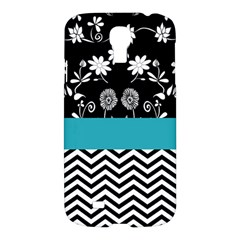 Flowers Turquoise Pattern Floral Samsung Galaxy S4 I9500/i9505 Hardshell Case