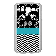 Flowers Turquoise Pattern Floral Samsung Galaxy Grand Duos I9082 Case (white) by BangZart