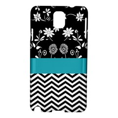 Flowers Turquoise Pattern Floral Samsung Galaxy Note 3 N9005 Hardshell Case