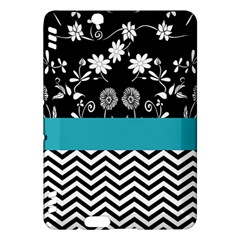 Flowers Turquoise Pattern Floral Kindle Fire Hdx Hardshell Case by BangZart