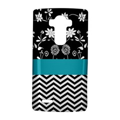Flowers Turquoise Pattern Floral Lg G4 Hardshell Case by BangZart