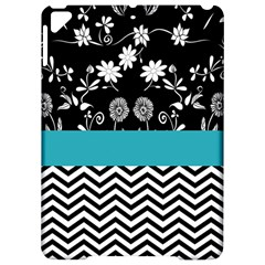 Flowers Turquoise Pattern Floral Apple Ipad Pro 9 7   Hardshell Case by BangZart