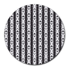 Pattern Background Texture Black Round Mousepads by BangZart