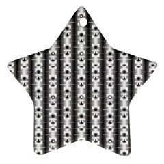 Pattern Background Texture Black Ornament (star) by BangZart