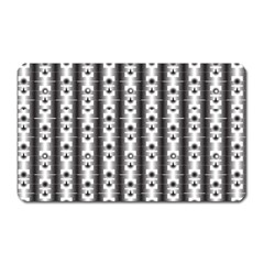 Pattern Background Texture Black Magnet (rectangular) by BangZart