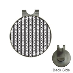 Pattern Background Texture Black Hat Clips With Golf Markers