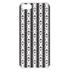 Pattern Background Texture Black Apple Iphone 5 Seamless Case (white)