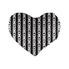 Pattern Background Texture Black Standard 16  Premium Heart Shape Cushions
