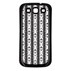 Pattern Background Texture Black Samsung Galaxy S3 Back Case (black) by BangZart