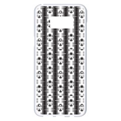 Pattern Background Texture Black Samsung Galaxy S8 Plus White Seamless Case