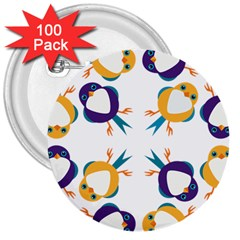Pattern Circular Birds 3  Buttons (100 Pack)  by BangZart