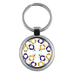 Pattern Circular Birds Key Chains (round)