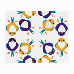 Pattern Circular Birds Small Glasses Cloth (2 Side) by BangZart
