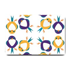 Pattern Circular Birds Small Doormat  by BangZart