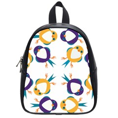 Pattern Circular Birds School Bags (small)