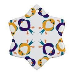 Pattern Circular Birds Ornament (snowflake) by BangZart