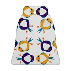 Pattern Circular Birds Bell Ornament (two Sides)