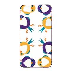 Pattern Circular Birds Apple Iphone 4/4s Seamless Case (black) by BangZart