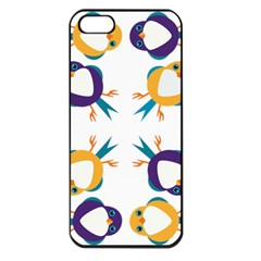 Pattern Circular Birds Apple Iphone 5 Seamless Case (black) by BangZart