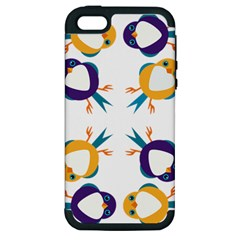 Pattern Circular Birds Apple Iphone 5 Hardshell Case (pc+silicone) by BangZart