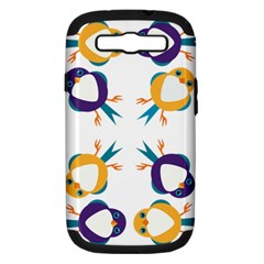 Pattern Circular Birds Samsung Galaxy S Iii Hardshell Case (pc+silicone) by BangZart